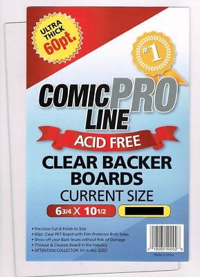 Comic Pro Line Current Size 60pt Clear Backer Boards (1ea) - Vault 35