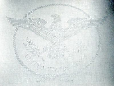 SS UNITED STATES LINES  Insignia Linen Napkin  /  Fancy  /  Top Condition