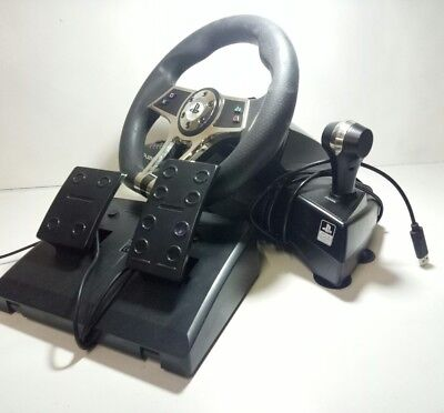 PLAYMAX Steering wheel and Pedals for PS3 / PS4 VG working Condition Playstation