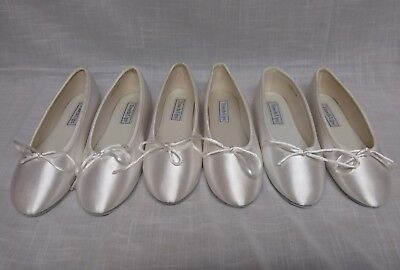 Touch Ups Satin White Ballet Style Flats Size 1m 2m 3M lot of 3 shoes