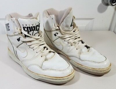 premium selection 2cba4 29300 Vintage Nike Driving Force High Top Air White Original Classic Sz 10.5 80s  90s