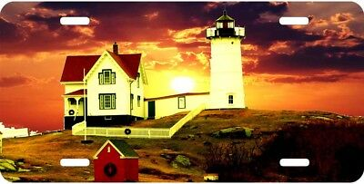 Airbrushed Crabmeadow lighthouse car tag novelty license plate #2