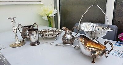 Job Lot Of 9 Silver Plated Items  1 By Thomas Latham & Ernest Morton Rare.