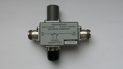 Wiltron VSWR Bridge / Messbrücke Model 62NF50, 10-1000 MHz.