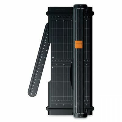 Fiskars SureCut Titanium 12 inch Portable Paper Trimmer with Extra Blade