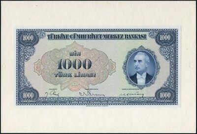 Turkey 1000 Lira Front and Back Specimen Proofs L.1930 P146 Uncirculated