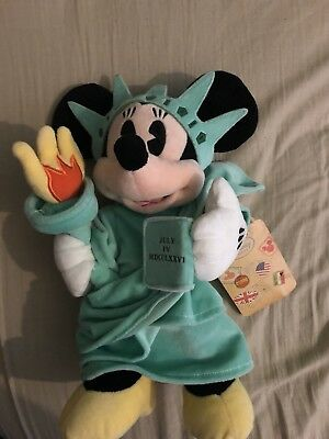 Disney Store Minnie Mouse New York Statue Of Liberty Plush With Tags