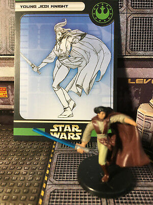 Star Wars Miniatures, Universe, #56 Young Jedi Knight, Wizards of the Coast, SW