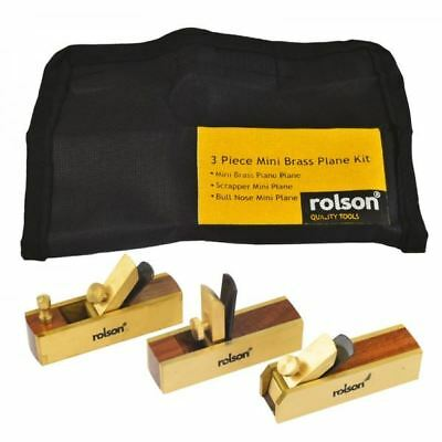 3 Piece Mini Brass Plane Kit - Rolson 5640