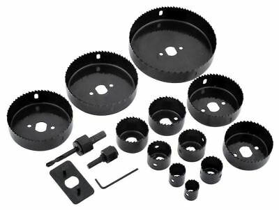 Rolson 16pc Holesaw Kit For Downlights Spotlight Ceiling Lights Hole Cutting Set
