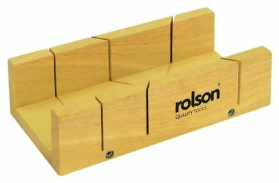 Rolson Wooden Mitre Box Saw Wooden Accurate Cutting Hand Tool Accessory