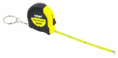 Rolson 2m Rubberised Tape Measure Keyring Inch metric Imperial Scale NEW Free PP