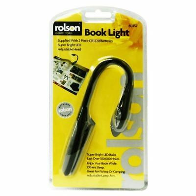Rolson 1 LED Flexible Book & Kindle Light Reading Torch Lamp Clip-On Bookmark