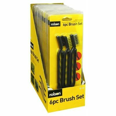 Brush Set Wire 6 Pieces Mini Nylon Brushs Removal Rust Cleaning Metal Tools New