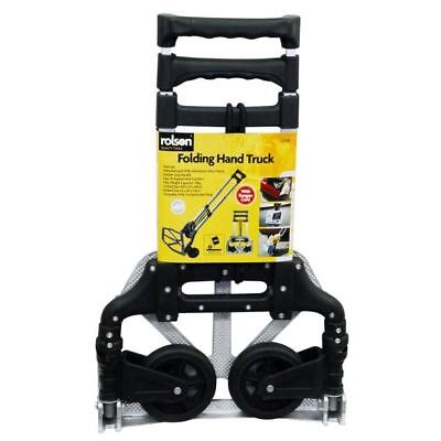 70kg Heavy Duty Folding Hand Sack Parcel Boot Cart Foldable Trolley Strap ROLSON