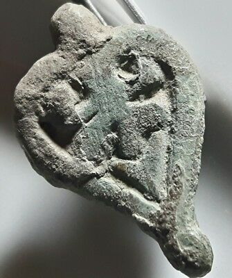 ** SHIELD ** CELTIC BRONZE PENDANT 400 BC ** Rare **