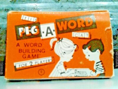 Cracker Jack prize premium PEG A WORD building game miniature vintage 1960s USA