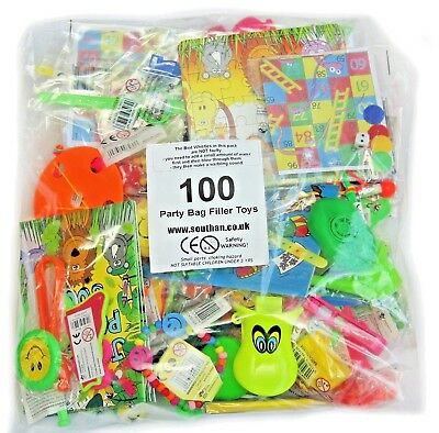 100 DELUXE Assorted Party Bag Fillers Pinata Favours Boys Girls Unisex Lucky Dip