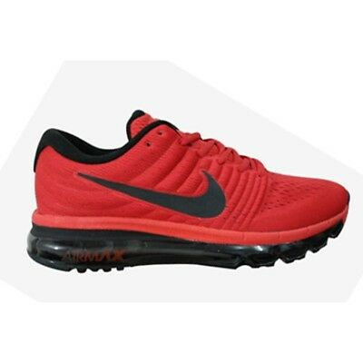 Men's Genuine Air Max 2017's By Nike Sizes 7-11 Red-Red-Black Rrp £139.99
