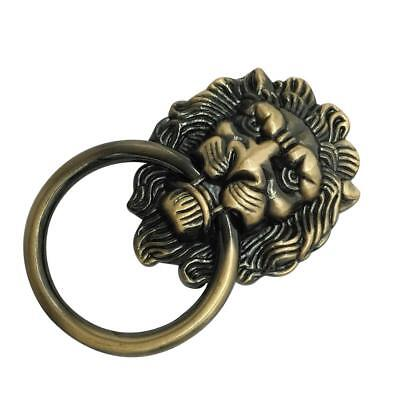 Antique Lion Head Handle Door Cabinet Drawer Cabinet Pull Ring Knob Bronze