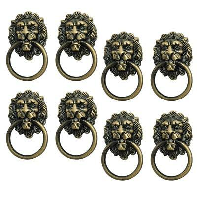 Pack 10 Antique Lion Head Handle Door Cabinet Drawer Cabinet Pull Ring Knobs