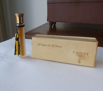 Vintage Crepe De Chine Perfume F. Millot Paris France orig box 1/8 Oz # 5095