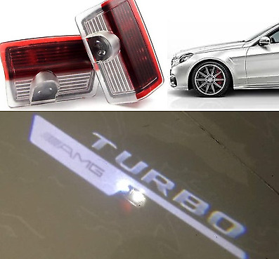 Turbo Amg Logo Under Led Puddle Projector Ghost Lights Mercedes Benz W176 W205