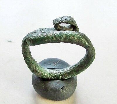 "ANCIENT CELTIC  BRONZE RING. "" Snake "" 600-300 BC."