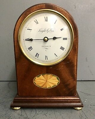 Knight & Gibbons of London Inlaid Mantle Clock ( Made In England )