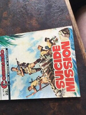 1. very old Commando war Comic 1879 Suicide Mission