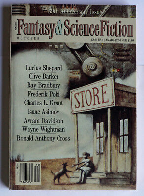 """Fantasy & SF"" 39th Anniversary Issue Clive Barker Ray Bradbury Lucius Shepard"