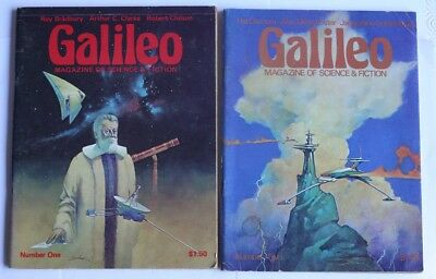 TWO Issues of Galileo Science Fiction No. 1 & 2 Large Size 1970's American Pulp