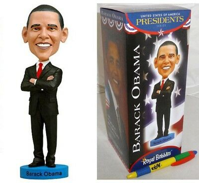 Figure BARACK OBAMA President USA 20cm BOBBLE HEAD Figure Statue ROYAL BOBBLES