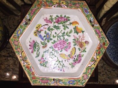 Chinese Famille Rose Porcelain Hexagonal Jardiniere Planter Stand