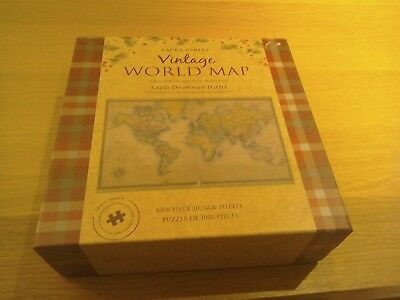 Laura ashley vintage world map 1000 piece jigsaw puzzle 699 the world on mercators projection 1000 piece jigsaw laura ashley gumiabroncs Gallery