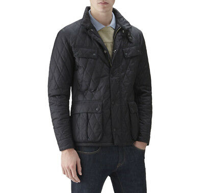 Barbour International Ariel Quilted Jacket Size Small in Black