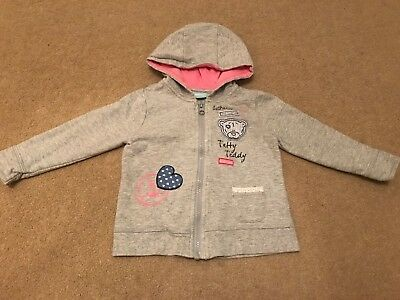 baby girl hoodie from George 12-18 months, grey