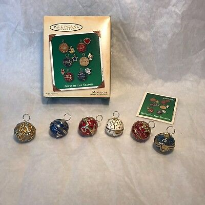 Hallmark Miniature Gifts of the Season 2002 Set of 6