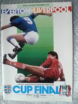 1986 FA Cup FINAL Programme- EVERTON v LIVERPOOL ( Exc, Genuine*)