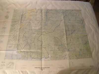Afghanistan Pakistan India ONC H-8 Chart Map 1960 1987 Defense Mapping Agency