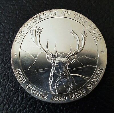 1oz BAIRD & CO .9999 Fine Silver Bullion Coin Deer Stag The Monarch Of The Glen