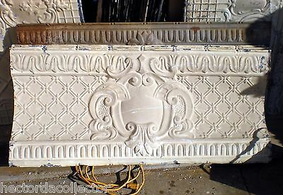SALE Antique Victorian Ceiling Tin Tile Basket Weave Cameo Headboard Gothic Chic
