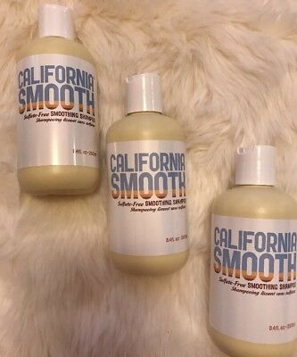 California Smooth Smoothing Shampoo 8.4 OZ SULFATE, PARABEN FREE (Pack Of 3)