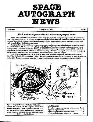 Space Autograph News, 14 back issues from 1995-1997, rare underground newsletter