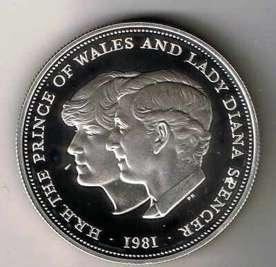 1981 Charles & Diana silver proof crown coin - 28.3g sterling cased with cert