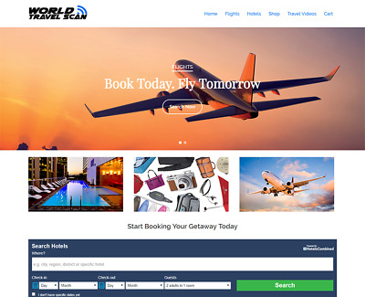 Hotel & Flight TRAVEL BOOKING WEBSITE BUSINESS FOR SALE - Complete & Turnkey!!