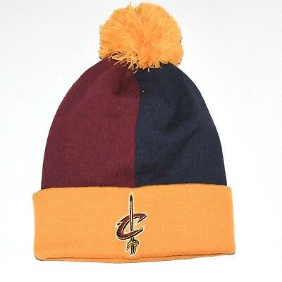 Cleveland Cavaliers Winter Cuffed Knit Hat Pom Adult One-Size NBA Mitchell  Ness d8018984021