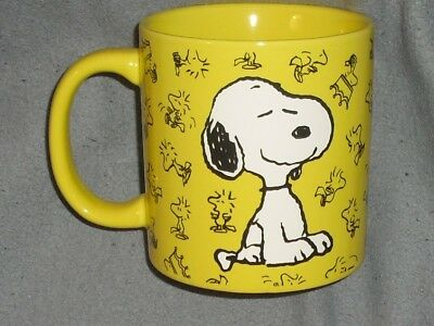 PEANUTS Huge WOODSTOCK YELLOW Happy SMILEY SNOOPY Mother's day  GIFT Mug NEW