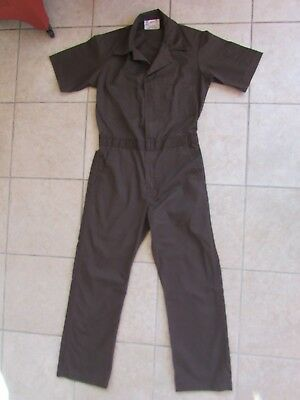 Vintage Unitog Mens Coveralls Short Sleeve Brown Size Small USA Made