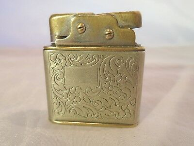 Vintage 1950's Eldro Push Button Petrol Lighter Made W Germany Alpacca Silver